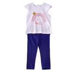 Lily & Jack Baby Girls 2 Pcs Set , White/Navy , JCGS20R18577
