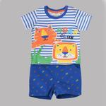 Lily & Jack Baby Boys 2 Pcs Set , White/Roayl Blue , JCGS20R18175