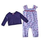 Mini Moi Baby Girls 2 Pcs Set , Blue/Navy , JCGS20R18071