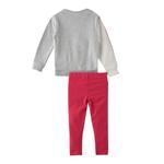 Genius Girl Sweatshirt With Legging Set , Grey/Fuchsia - HDGLAW202171