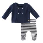 Rock a Bye Baby Baby Boys 2Pc Set , Navy/White- JCGAW20S19366