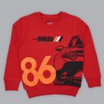 Genius Boys Sweatshirt With Full Pant Set , Red/Dark Grey - SIMGA20241036