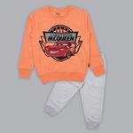 Disney Boys Sweatshirt With Full Pant Set , Neon Orange/Grey - SIMGA20243019