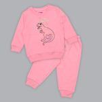 Smart Baby Baby Girl Sweatshirt With Full Pant Set , Neon Pink - SIMGA20911021