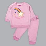 Smart Baby Baby Girl Sweatshirt With Full Pant Set , Pink - SIMGA20911031