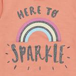Smart Baby Baby Girl Sweatshirt With Full Pant Set , Peach/Grey - SIMGA20911026