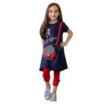 Le Crystal Girls Party Wear 2 Pcs Set, Navy/Red-GEG1801119