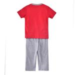 Genius Boys T-shirt With Long Pant Set, Red/Grey-SIMG51197RED