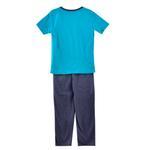 Genius Boys T-shirt With Long Pant Set, Sea Green/Blue Milange-SIMG51193SGREEN