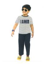 Genius Boys T-shirt With Long Pant Set,Grey/Navy Blue-SIMG51195GREY
