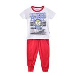 Genius Boys T-shirt With Long Pant Set,Grey/Red-SIMG51189GREY