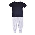 Genius Boys T-shirt With Long Pant Set,Black/Light Grey-SIMG51191BLACK