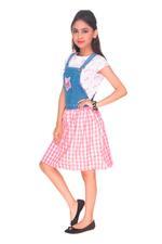 Jojo Siwa Girls Jumper With T-Shirt, Denim Blue/Pink-HWGLJJ53