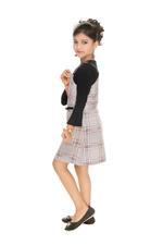 Nexgen Girls Girls Jumper Dress With T-Shirt,Black/Multicolor-MCG701DG19