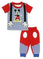 Disney Mickey Mouse Baby Boys 2pcs Set , Blue/Red-NCGDBIFS193