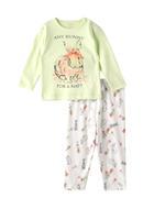 Chiquitos Baby Girls T-shirt With Pyjama Set , Mint/White - BIGAW20CGJ514
