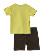 Smart Baby Baby Boy T-shirt With Bermuda Set , Apple Green/Olive - MCGSS20808