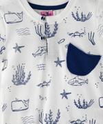 Smart Baby Baby Boy T-shirt With Bermuda Set , White/Navy - MCGSS208005