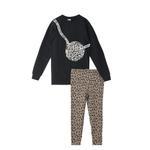 Genius Girl Sweatshirt With Legging Set , Black/Multi - HDGLAW202144