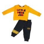 Smart Baby Baby Boys Sweatshirt With Full Pant Set , Yellow/Navy - HDGLW20B2119