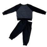 Smart Baby Baby Boys Sweatshirt With Full Pant Set , Navy Melange/Navy - HDGLW20B2123