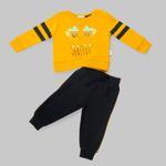 Smart Baby Baby Boys Sweatshirt With Full Pant Set , Mustard/navy - HDGLW20B2127