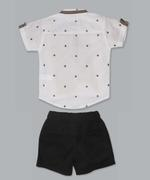 Little Kangaroos Baby Boy 2pc Set , White/Black - ROGS2019302A