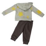 Smart Baby Baby Boys Hoodie With Full Pant Set , Grey Melange/Dark Grey - HDGLW20B2110