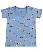 Smart Baby Baby Boys 2 Pack T-shirt, Navy blue/Blue-NCGSS21SBPB5A