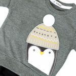 Smart Baby Baby Boys Sweatshirt With Full Pant Set , Grey Melange/Black - HDGLW20B2125