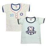 Smart Baby Baby Boys 2 Pack T-shirt, Multi-NCGSS21SBPB2A