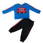 Smart Baby Baby Boys Sweatshirt With Full Pant Set , Royal/Navy - HDGLW20B2120