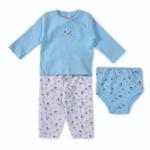 Smart Baby Baby Girls 3 Piece Set,Light Blue-BIGCG116DGJLB