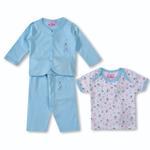 Smart Baby Baby Girls 3 Piece Set,Light Blue-BIGCG116EFBLB