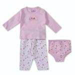 Smart Baby Baby Girls 3 Piece Set,Light Pink-BIGCG116DGJLP