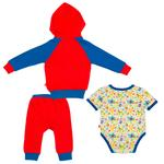 Fisher Price Baby Boys 3pc Set, Red/ Blue-NCGNCW2