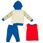 Fisher Price Baby Boys 3pc Set, Red/Blue/White-NCGNCW3