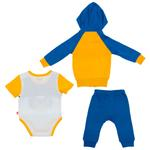 Fisher Price Baby Boys 3pc Set, Yellow/Blue-NCGNCW6