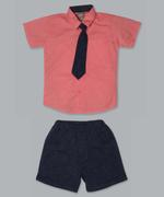 Little Kangaroos Baby Boy 3pc Set , Coral/Navy - ROGS2019319A
