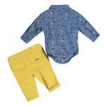Little Gent Baby Boys 3Pcs Set ,Blue/Yellow,JCGS21R18786