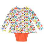 Mini Moi Baby Girls 3Pcs Set , Orange/Blue , JCGS20R18547
