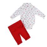 Little Gent Baby Boys 3Pcs Set , White/Red , JCGS20R18784