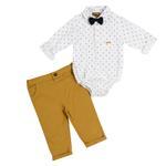 Little Gent Baby Boys 3Pcs Set , White/Golden , JCGS20R18389