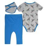 Lily & Jack Baby Boys 3Pcs Set , Grey/Blue , JCGS20R18520
