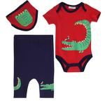 Lily & Jack Baby Boys 3Pcs Set , Red/Purple , JCGS20R18528