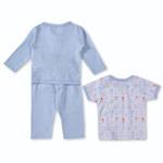 Smart Baby Baby Boys 3 Piece Set,Sky Blue-BIGCB215EFBSB