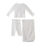 Rock a Bye Baby Baby Unisex 2pc Set With Shawl , Off White - JCGS19077
