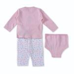 Smart Baby Baby Girls 3 Piece Set,Light Pink-BIGCG115DGJLP