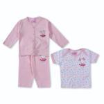 Smart Baby Baby Girls 3 Piece Set,Light Pink-BIGCG115EFBLP