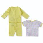 Smart Baby Baby Girls 3 Piece Set,Yellow-BIGCG115EFBY